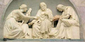 Yunan-Kader Tanrıçası 3 kız kardeş.