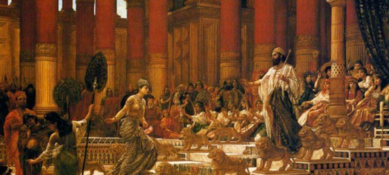 Sheba and King Solomon 800x360 - Süleyman'ın anahtarı. Büyü kitapları. Clavicula Salomonis